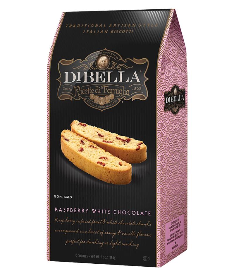 Raspberry White Chocolate Biscotti - DiBella Famiglia